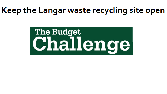 Keep the Langar waste recycling site open!