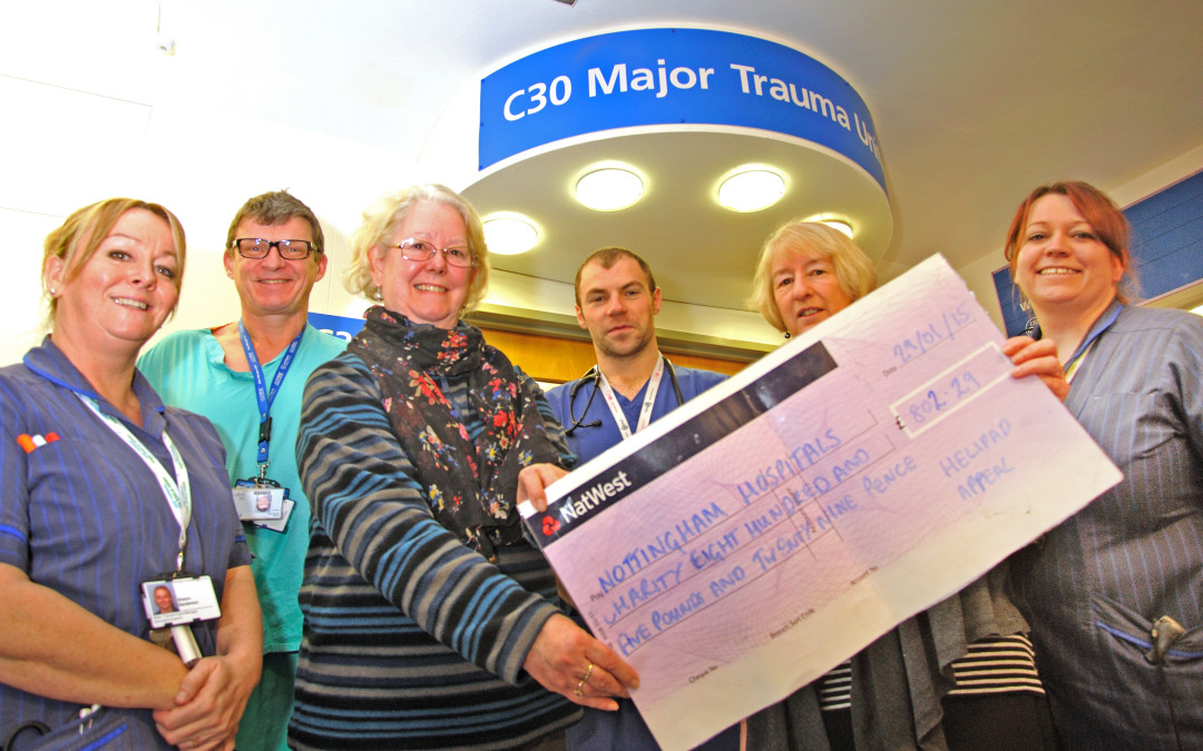 Bingham Methodist Church donates £800+ to Nottingham Hospitals Charity's