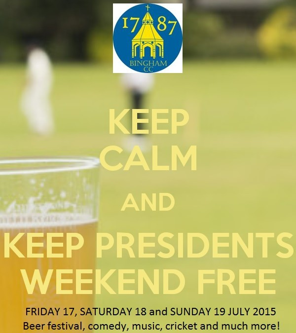 Keep calm and keep presidents weekend free!