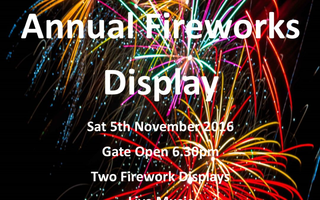 Bingham Town Sports Club Annual Fireworks Display
