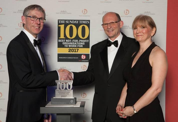 Nottinghamshire YMCA listed in Sunday Times 100 Best Not-For-Profit Organisations to work for