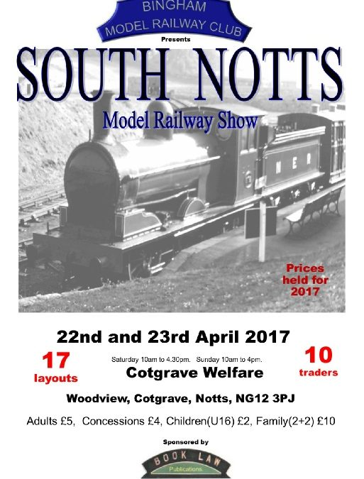 Bingham Model Railway Club – South Notts Model Railway Show 22/23 April