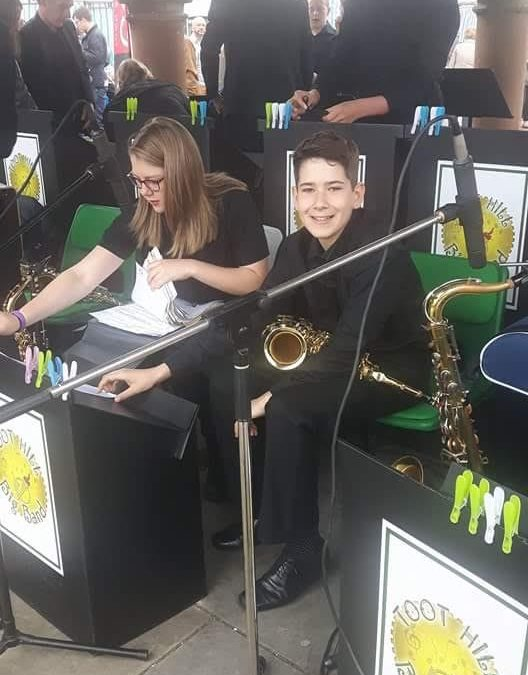 Charlie Henry Year 7 Playing the Alto Saxophone in Toot Hill Big Band